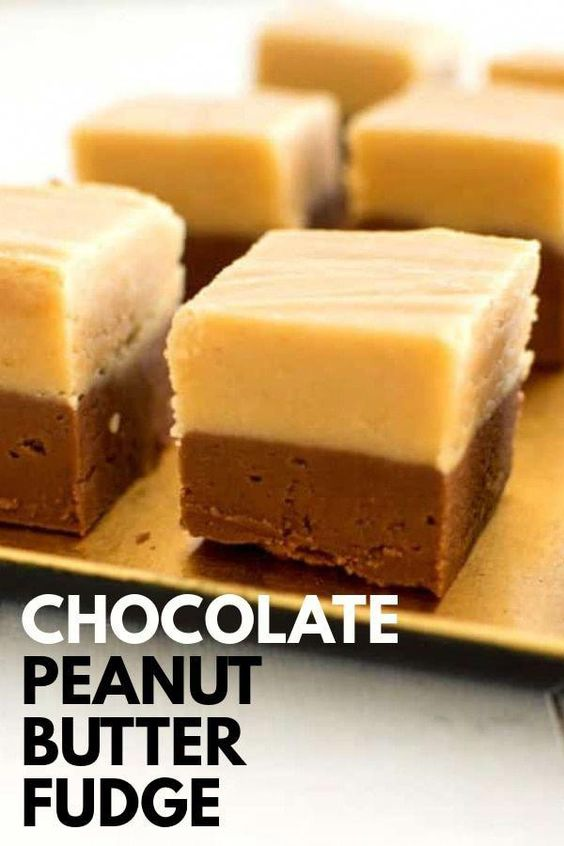 Chocolate Chips Peanut Butter Marshmallow Fluff And Evaporated Milk And A Few More Ingredients Make Delicious Two Layered Choco Chocolate Peanut Butter Fudge Peanut Butter Fudge Fudge Recipes
