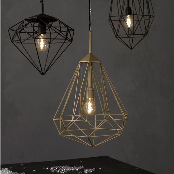 Medium Diamond Pendant Lamp - JSPR