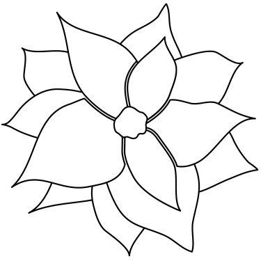 Black And White Poinsettia Clipart poinsettia clip art planetjune by ...
