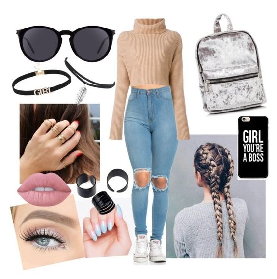 """Untitled #3"" by yuan2020-0 ❤ liked on Polyvore featuring Yves Saint Laurent and Lime Crime"