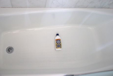 Clean your tub with Bar Keeper's Friend, first heard about this from Nicole Curtis on Rehab Addict