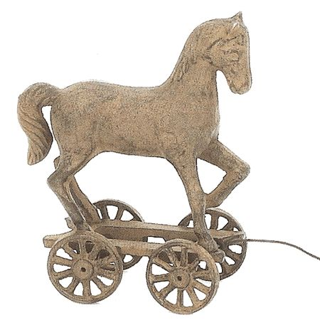 Upper Deck Horse Pull Toy Statue - X2220