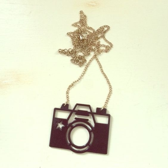 Camera necklace Adorable camera necklace for those who love taking pictures and models alike! GET ANY TWO NECKLACES FOR $10!! Jewelry Necklaces
