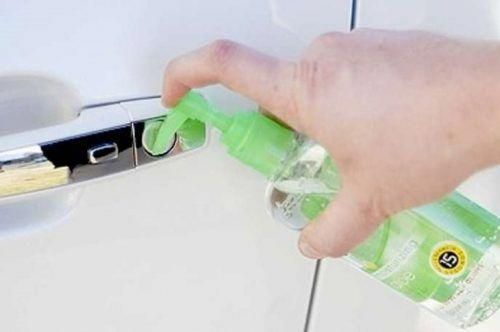 De Ice A Frozen Lock On Your Car Door Using Hand Sanitizer And
