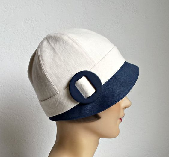 Hey, I found this really awesome Etsy listing at https://www.etsy.com/dk-en/listing/239809837/1920s-cloche-hat-in-blue-and-cream-linen