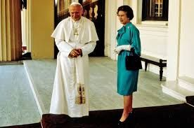 History was made in 1982 when Pope John Paul II visited Britain; he was the first Pope to do so in 450 years. Queen Elizabeth, titular head of the Church of England, received him at Buckingham Palace.