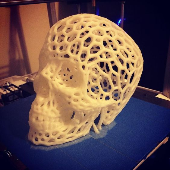Something we liked from Instagram! This turned out awesome. #3dprinter #halloween #rigidbot #gadgetsmyth #skull by gadgetsmyth check us out: http://bit.ly/1KyLetq