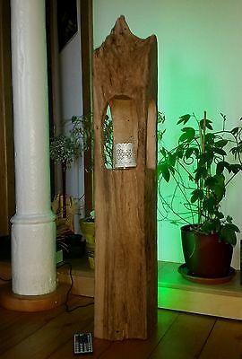 stehlampe leuchte windlicht alt eichenbalken led lampe design holzbalken deko windlicht. Black Bedroom Furniture Sets. Home Design Ideas