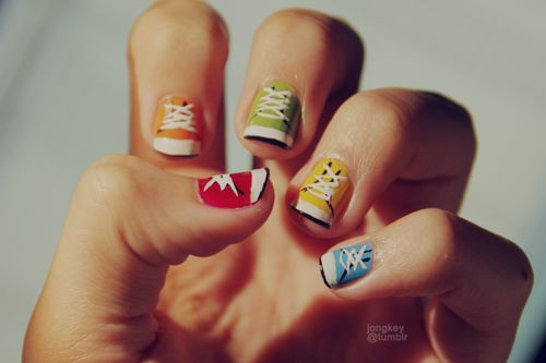 Sneaker nails! cc: @Michelle Huynh