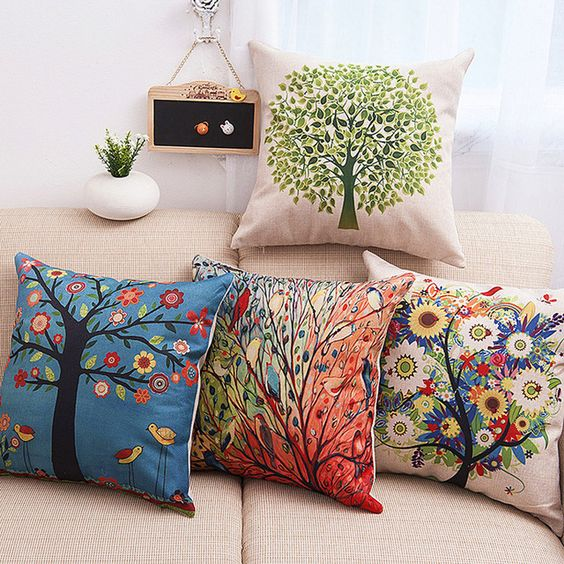 Cadeneta bordado Cojín design45cm Home Decor Sofá Asiento de Coche Funda de almohada Decorativa Tiro