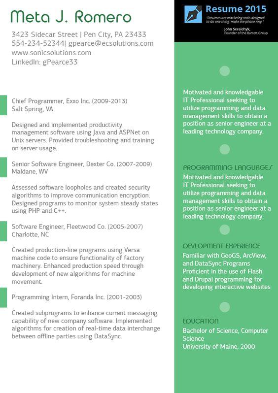 sample teacher resume - Google Search resumes Pinterest Canada