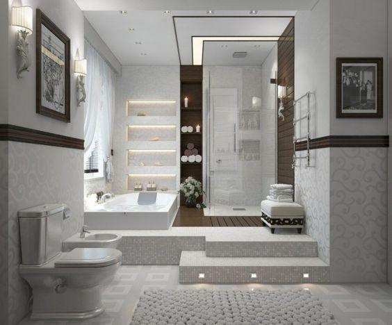badezimmer fliesen - weißes mosaik für einen eleganten look