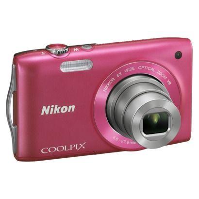 Sooooo need a digital camera. Gary broke mine. :/  $99 Nikon COOLPIX S3300 16MP Digital Camera with 6x Optical Zoom - Pink