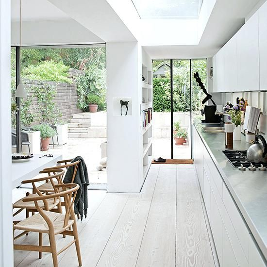 Unbelievable White Painted Wood Floor With Modern Cabinetry Limed Floorboards White Kitchen White Kitchen Wood