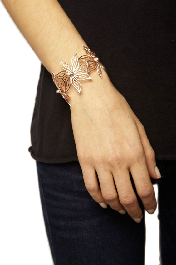 Copper Lilly Bangle