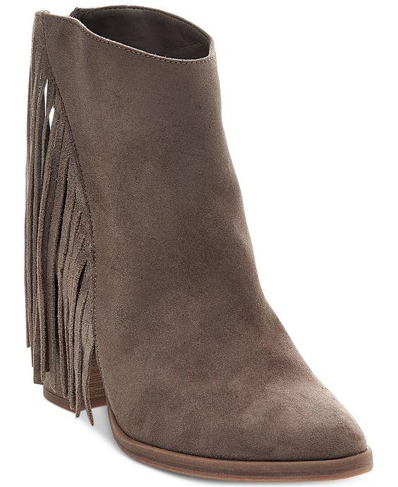 Madden Girl Shaare Fringe Booties - Booties - Shoes - Macy's