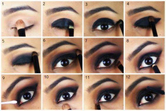 Dicas de como fazer maquiagem preta