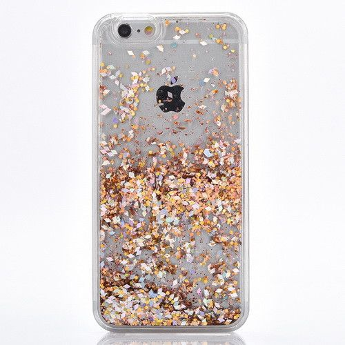 gold cascading glitter case for iphone 7 7 plus rose. Black Bedroom Furniture Sets. Home Design Ideas
