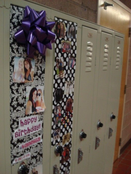 Birthday decoration ideas at mcmeans they can decorate for Locker decorations you can make at home