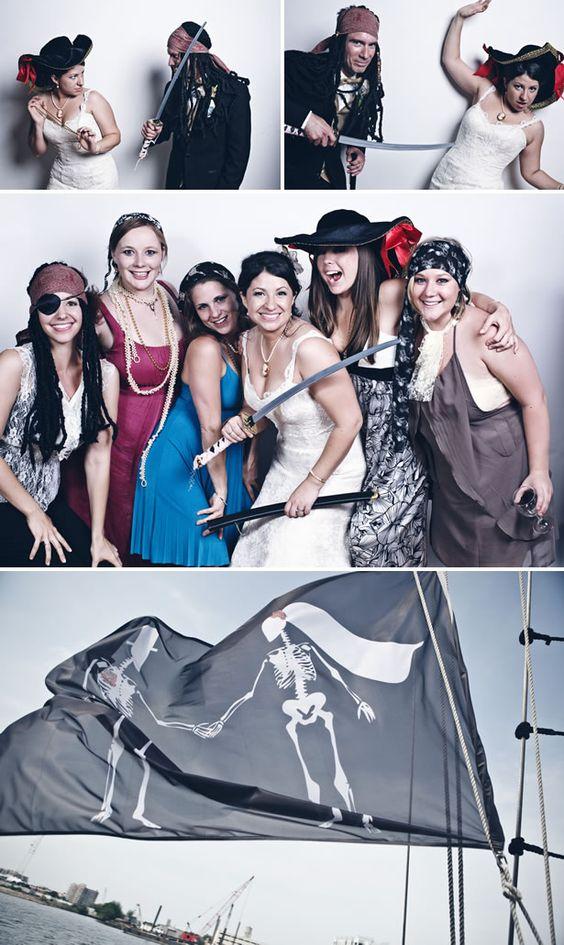 Pirate wedding flag...love