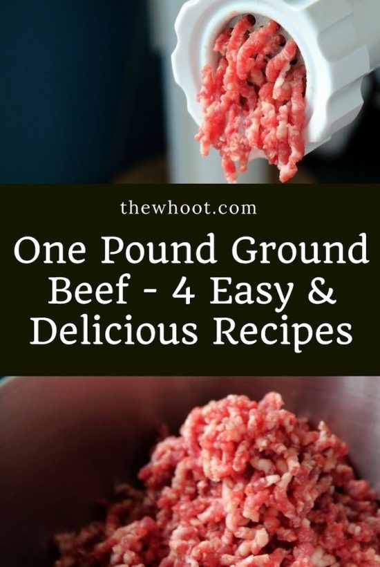 One Pound Ground Beef 4 Recipes The Whoot Ground Beef Recipes Easy Hamburger Meat Recipes Easy Meat Recipes