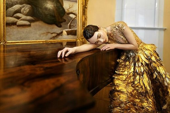 Karina Kim by Tatiana Mertsalova ~ Olga Malyarova gown