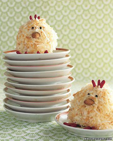 Martha's Spring Chick Cakes. Cheep cheep!
