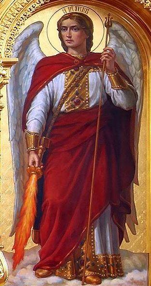 El Príncipe de la milicia celestial, ubicado en la Catedral de la Natividad de la Raíz de Kursk-Hermitage, Rusia.
