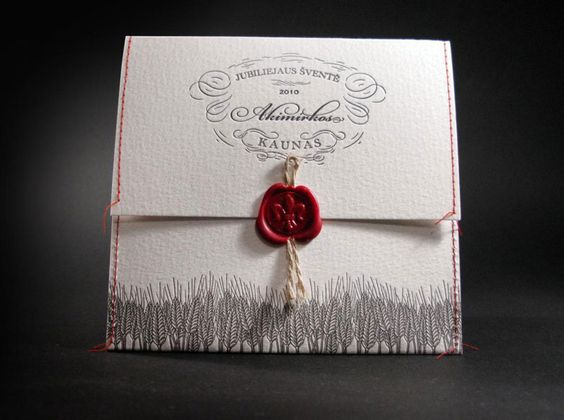 Self promotion idea. Stitching, yarn and a wax seal. Nice combo!
