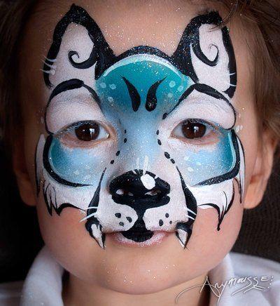 Anne marie noble maquillage de loup bleu by anne marie noble art on deviantart maquillage - Maquillage loup facile ...
