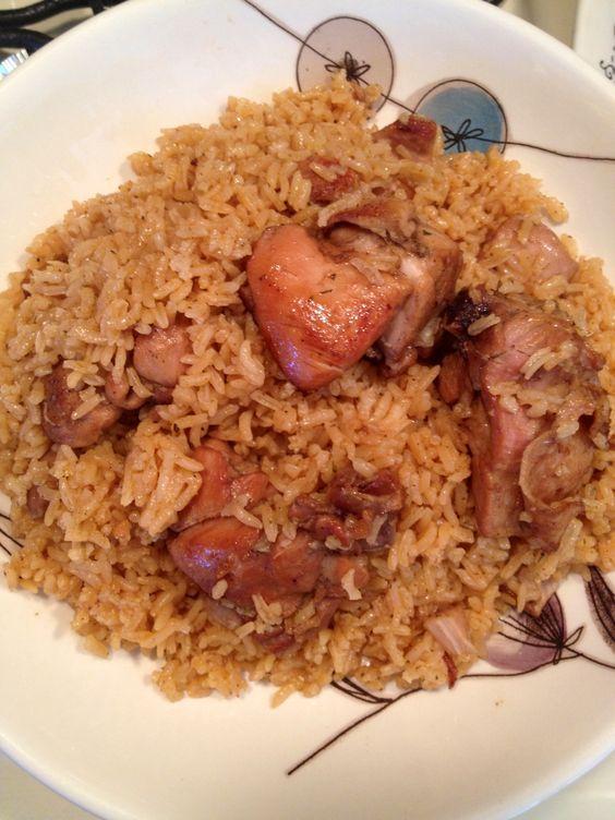 How to Make Locrio De Pollo(Rice & Chicken)