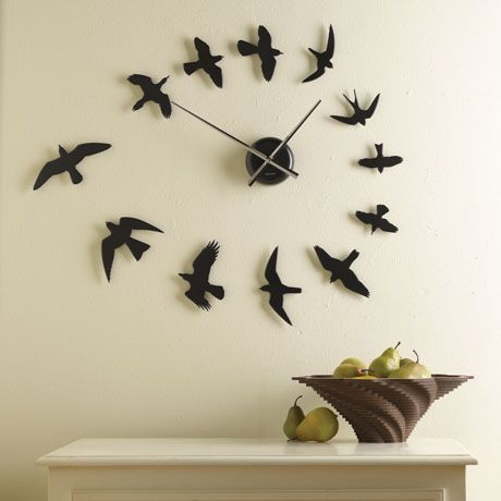 DO-IT-YOURSELF BIRDS WALL CLOCK, something to copy...: