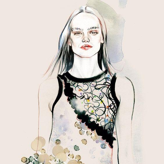 ⚪️Another detail @officialrodarte #mermaid #rodarte #fashionary #fashionillustration #nyfw ⚪️