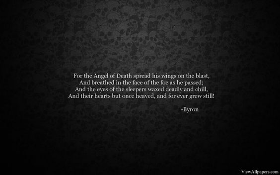 Byron Quote On Black