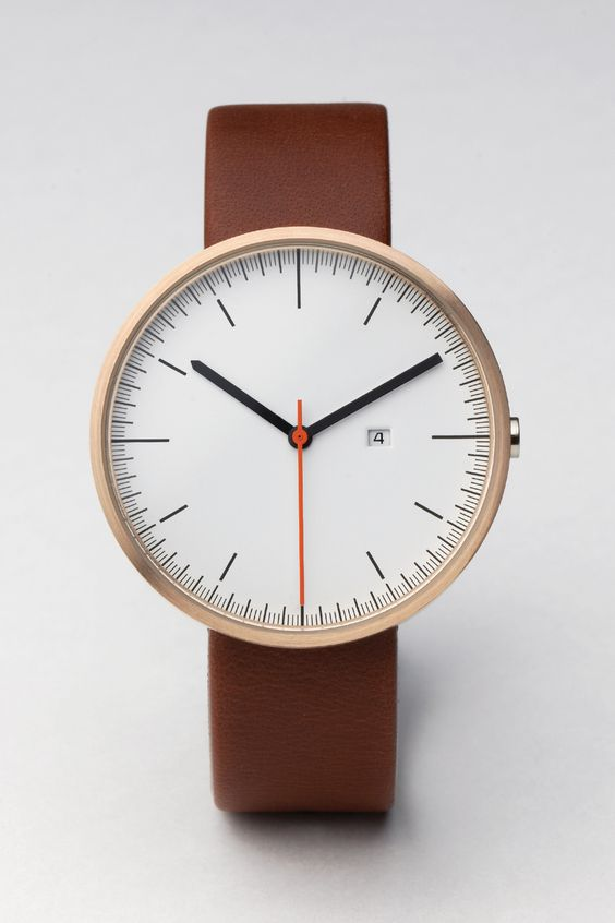 200 SERIES PVD Rose Gold / Antique Brown Leather