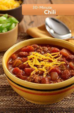 30-Minute Chili | Recipe | Skillets, Chili and Beans