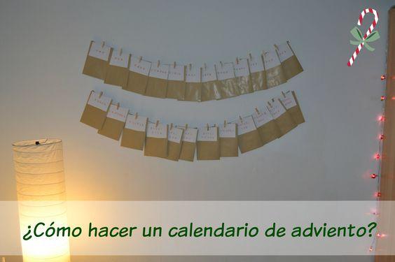 DIY Navidad: Calendario de adviento