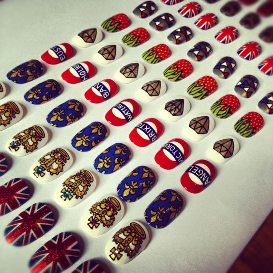 Prepping the nail art menu boards for The Royal Salon at the Battersea Park Jubilee Festival!