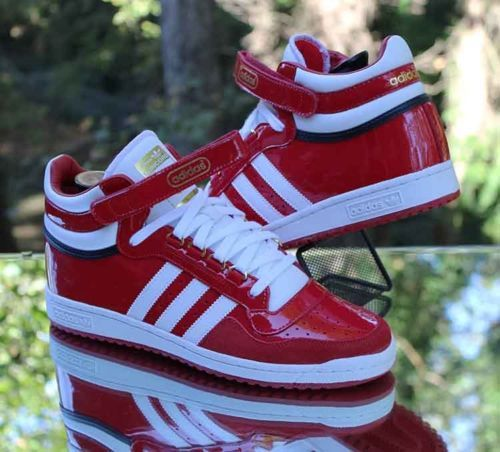 Adidas Concord II Mid Patent Scarlet Red White F37264 Men s