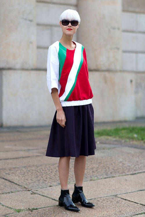 Beat the winter weather blues with street style inspiration from Milan. Click for more.