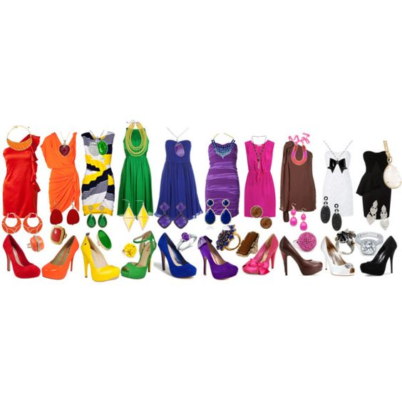 Rainbow wardrobe