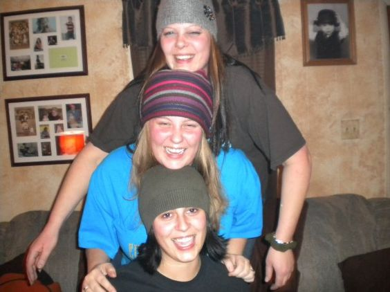 LeAnn, Renee, and Jessi. These three girls tried to kill me when they were teenagers. LOL Drove me nuts, so now LeAnn has to deal with my mental state.