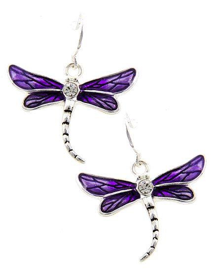 12 Awesome Décor Ideas For A Headstart On The Steampunk: Earrings, Purple And Silver