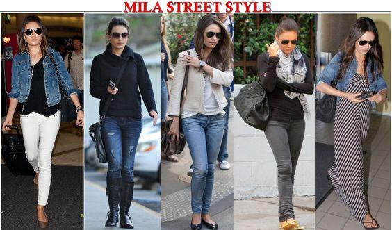 Mila Kunis casual style   Hello Divas   Liz Barros: Estilo: Mila Kunis