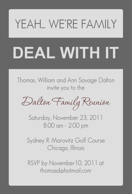 Wanted Family Reunion Invitations Easy to customize – Family Gathering Invitation Wording