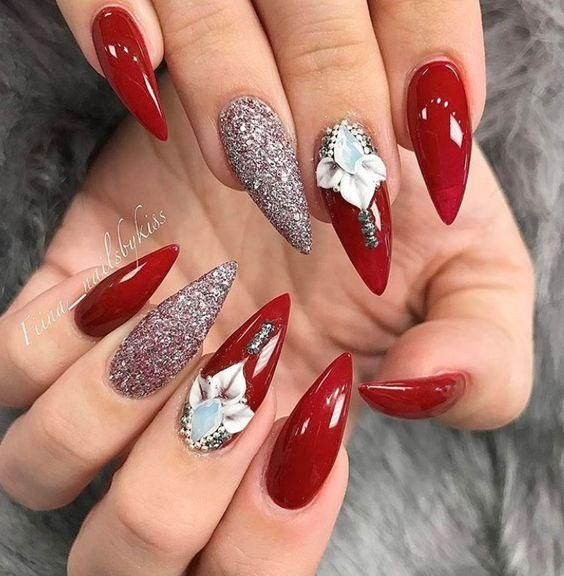 Inspiring Stiletto Nails To Win Over You Naildesignsjournal Com In 2020 Stiletto Nails Designs Red Stiletto Nails Red Nail Designs