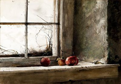 Frostbitten (1962) by Andrew Wyeth collection of the Museum of Modern Art in New York City.