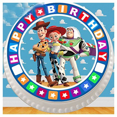 """Toy Story Cake Toppers Edible Party Decorations For 7.5/"""" Cake"""