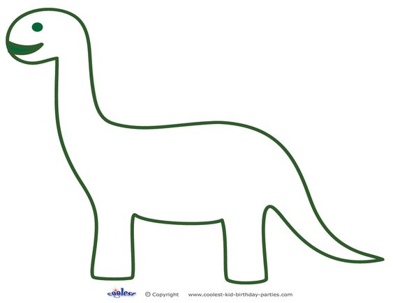 dinosaur templates to print - printable brontosaurus decoration coolest free