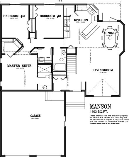 1500 sq ft ranch house plans with basement Deneschuk Homes 1400